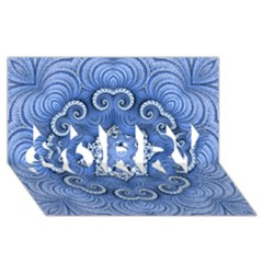 Awesome Kaleido 07 Blue SORRY 3D Greeting Card (8x4)