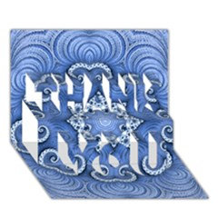 Awesome Kaleido 07 Blue THANK YOU 3D Greeting Card (7x5)