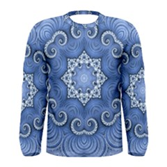 Awesome Kaleido 07 Blue Men s Long Sleeve T Shirts