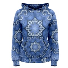 Awesome Kaleido 07 Blue Women s Pullover Hoodies