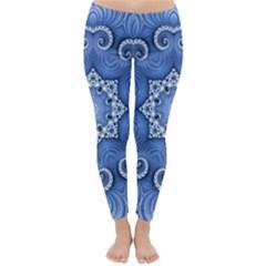 Awesome Kaleido 07 Blue Winter Leggings