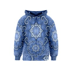 Awesome Kaleido 07 Blue Kids Zipper Hoodies