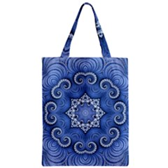 Awesome Kaleido 07 Blue Zipper Classic Tote Bags