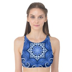 Awesome Kaleido 07 Blue Tank Bikini Top