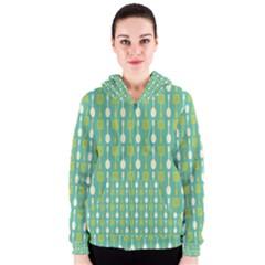 Spatula Spoon Pattern Women s Zipper Hoodies