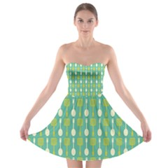 Spatula Spoon Pattern Strapless Bra Top Dress