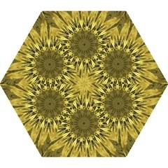 Kaleido Flower,golden Mini Folding Umbrellas