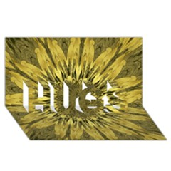 Kaleido Flower,golden HUGS 3D Greeting Card (8x4)