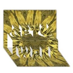 Kaleido Flower,golden Get Well 3d Greeting Card (7x5)