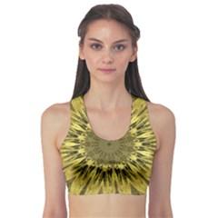Kaleido Flower,golden Sports Bra