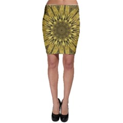 Kaleido Flower,golden Bodycon Skirts