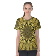 Kaleido Flower,golden Women s Cotton Tees