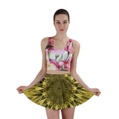 Kaleido Flower,golden Mini Skirts
