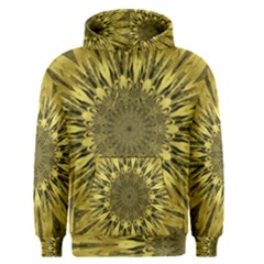 Kaleido Flower,golden Men s Pullover Hoodies