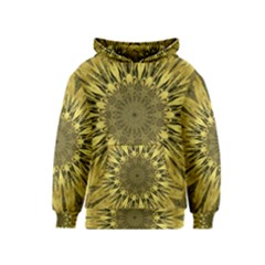 Kaleido Flower,golden Kid s Pullover Hoodies