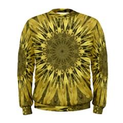 Kaleido Flower,golden Men s Sweatshirts