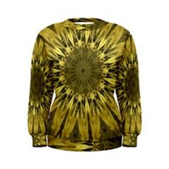 Kaleido Flower,golden Women s Sweatshirts