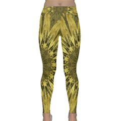 Kaleido Flower,golden Yoga Leggings