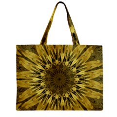 Kaleido Flower,golden Zipper Tiny Tote Bags