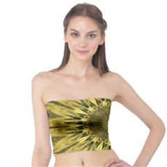 Kaleido Flower,golden Women s Tube Tops