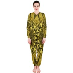 Kaleido Flower,golden OnePiece Jumpsuit (Ladies)