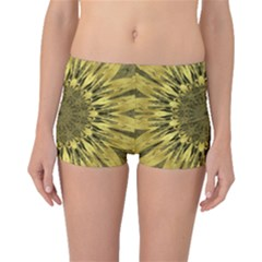 Kaleido Flower,golden Boyleg Bikini Bottoms