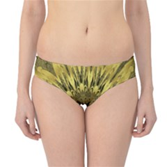 Kaleido Flower,golden Hipster Bikini Bottoms