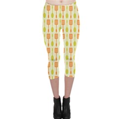 Spatula Spoon Pattern Capri Leggings
