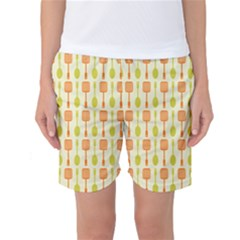 Spatula Spoon Pattern Women s Basketball Shorts