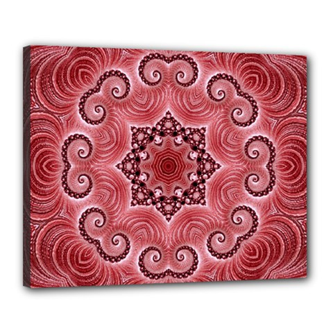 Awesome Kaleido 07 Red Canvas 20  X 16