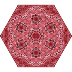 Awesome Kaleido 07 Red Mini Folding Umbrellas