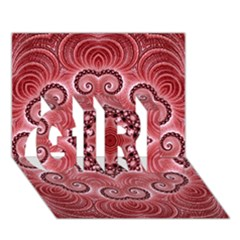 Awesome Kaleido 07 Red Girl 3d Greeting Card (7x5)