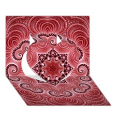 Awesome Kaleido 07 Red Heart 3D Greeting Card (7x5)