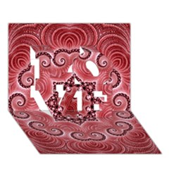Awesome Kaleido 07 Red Love 3d Greeting Card (7x5)