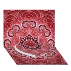 Awesome Kaleido 07 Red Heart Bottom 3D Greeting Card (7x5)
