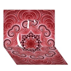 Awesome Kaleido 07 Red Apple 3d Greeting Card (7x5)