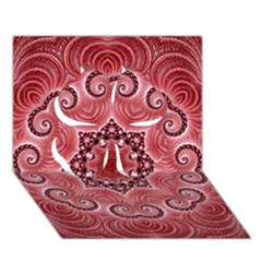Awesome Kaleido 07 Red Clover 3d Greeting Card (7x5)