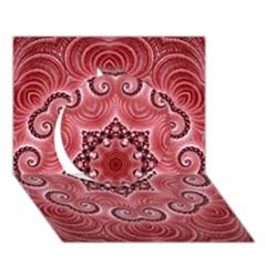 Awesome Kaleido 07 Red Circle 3D Greeting Card (7x5)