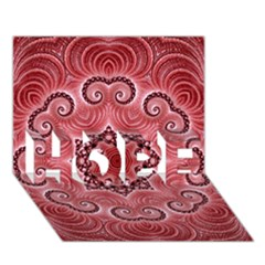 Awesome Kaleido 07 Red HOPE 3D Greeting Card (7x5)
