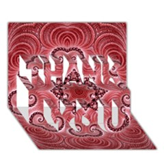Awesome Kaleido 07 Red THANK YOU 3D Greeting Card (7x5)