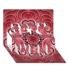 Awesome Kaleido 07 Red Get Well 3D Greeting Card (7x5)