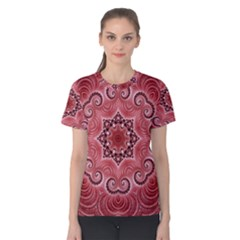 Awesome Kaleido 07 Red Women s Cotton Tees