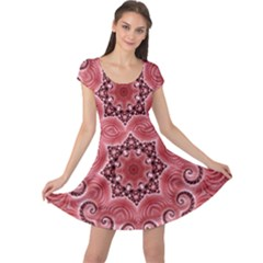 Awesome Kaleido 07 Red Cap Sleeve Dresses