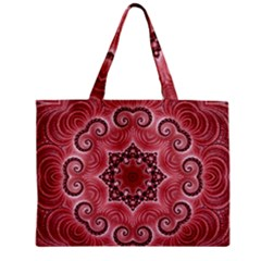 Awesome Kaleido 07 Red Zipper Tiny Tote Bags