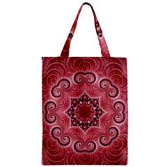 Awesome Kaleido 07 Red Zipper Classic Tote Bags