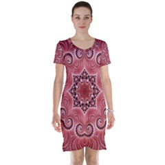 Awesome Kaleido 07 Red Short Sleeve Nightdresses