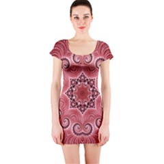 Awesome Kaleido 07 Red Short Sleeve Bodycon Dresses