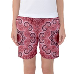 Awesome Kaleido 07 Red Women s Basketball Shorts