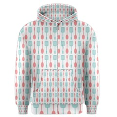 Spatula Spoon Pattern Men s Zipper Hoodies