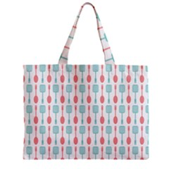 Spatula Spoon Pattern Zipper Tiny Tote Bags